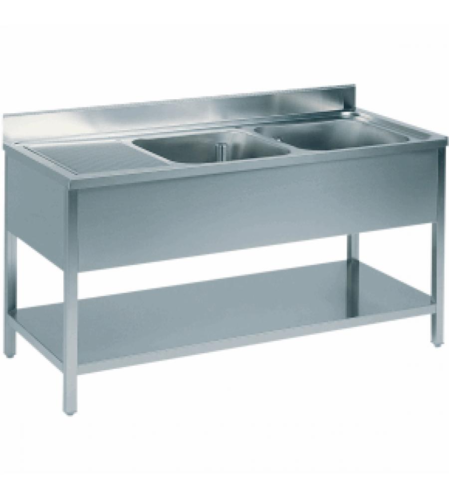 Double bowl sink Size: 140X70