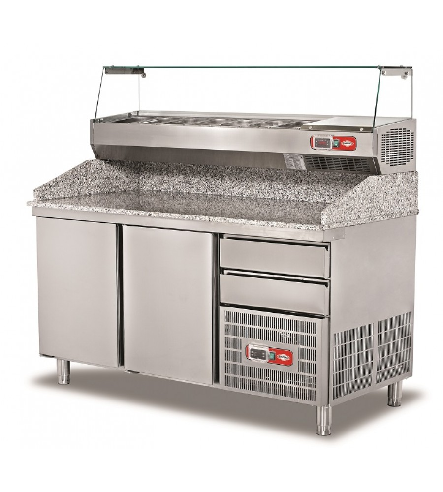Pizza Preparation Refrigerated Counter Model EMP.160.80.02